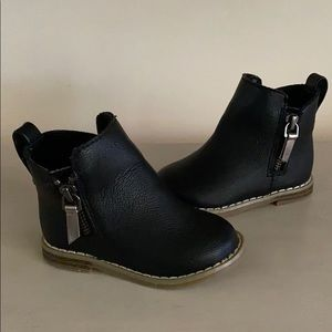 Baby GAP Black Moto Boots Size 5